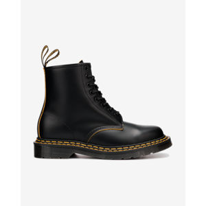 Dr. Martens 1460 Double Stitch Leather Lace Up Bokacsizma Fekete