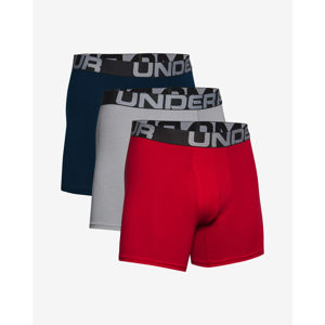 "Under Armour Charged Cotton® 6"" Boxeralsó 3 ks Kék Piros Szürke"