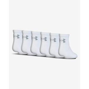 Under Armour Charged Cotton® 2.0 Gyerek zokni 6 pár Fehér
