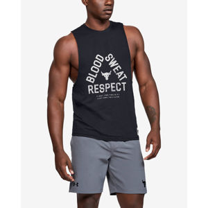 Under Armour Project Rock Blood Sweat Respect Trikó Fekete