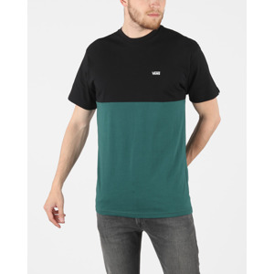 Vans Colorblock Póló Fekete Zöld