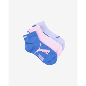 Puma Gyerek zokni, 3 pár Kék Rózsaszín