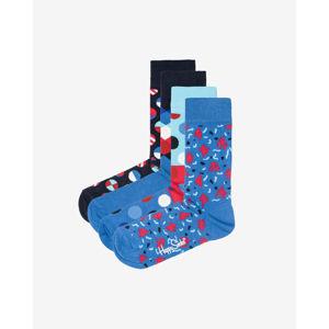 Happy Socks Navy Zokni 4 pár Kék