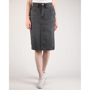 Levi's® Side Slit Skirt Satellite Szoknya Fekete