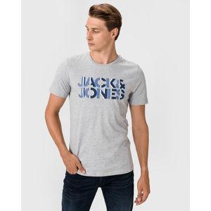 Jack & Jones Logo Póló Szürke