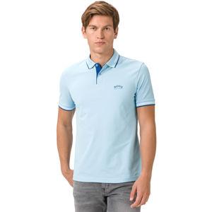 BOSS Paul Curved Teniszpóló Kék