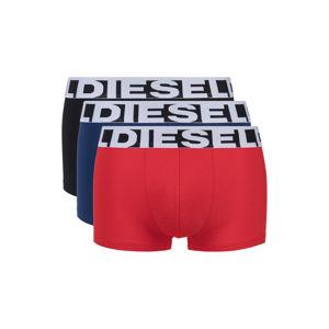 Diesel 3 db-os Boxeralsó szett Fekete Kék Piros