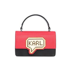Karl Lagerfeld Kézitáska Fekete Piros